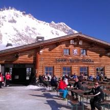 Skigebiet auf der Zugspitze